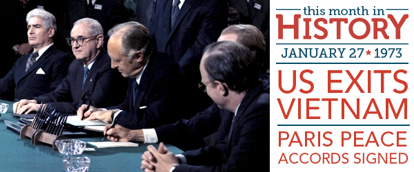 Signing Of The Paris Peace Accords January 27 1973 Fold3