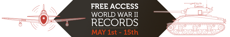 WWII Records, Free Access May 1st through May 15th