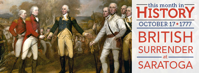 British Surrender at Saratoga: October 17, 1777