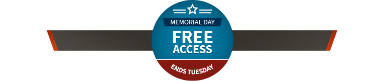 Memorial Day Free Access Ends Tuesday