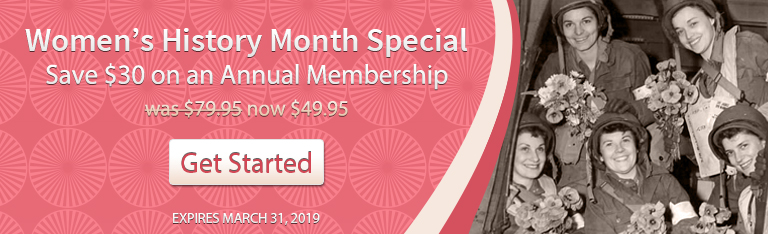 Women's History Month Special Save $30 on an Annual Membership now $49.95