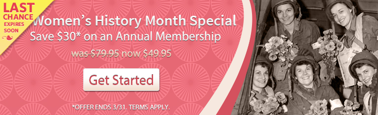 Women's History Month Special - Save $30 on an Annual Membership
