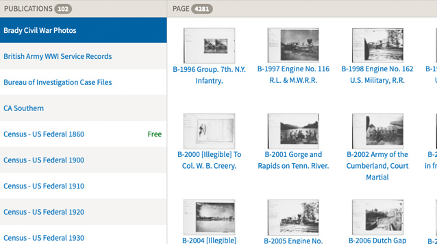 Browse military records Screen Shot