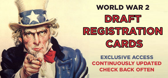 World War II draft registration cards now available