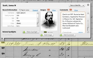 Viewer and 1860 census