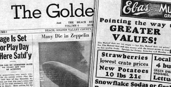 Newspapers from the everyday life in the 1930s