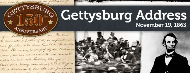 150th Anniversary of the Gettysburg Address