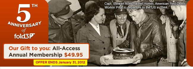 Save $30.00 on an annual All-Access Fold3 Membership.