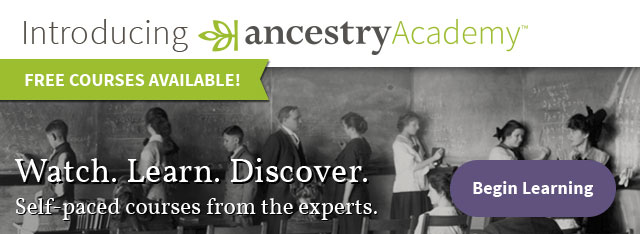 Visit the Newly Launched Ancestry Academy