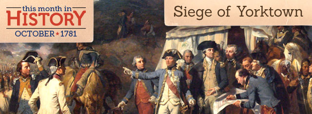 Surrender at Yorktown: October 19, 1781