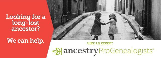 Looking for a long-lost ancestor? We can help.  Hire an expert.