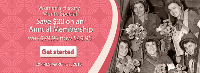 Womens History Month Special Save $30