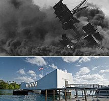 Pearl Harbor, USS Arizona Today, and Dec 7, 1941